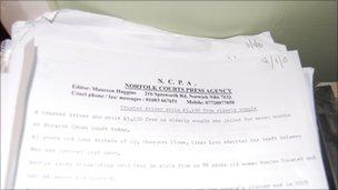 Maureen Huggins' court copy