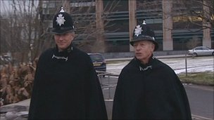 Devon and Cornwall chief constable Stephen Otter joined Pc Dave Dolling for his last foot patrol