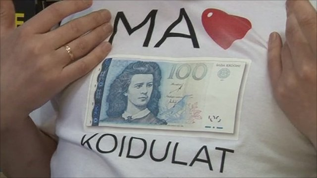 The Estonian kroon will be replaced by the euro