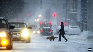 Snow in Copenhagen (23 Dec 2010)