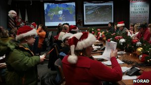 Santa Tracker operations centre