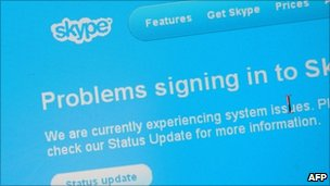 Skype sign in screen, AFP/Getty