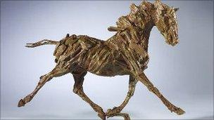 The bronze horse statue