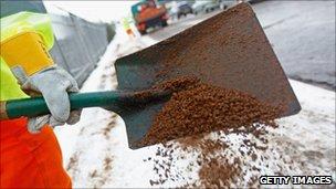 Gritting shovel