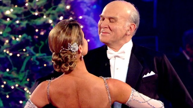 Vince Cable with partner Erin Boag