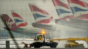 Snow plough at Heathrow