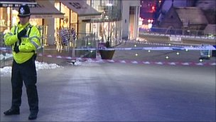 Part of Bullring cordoned off after shooting