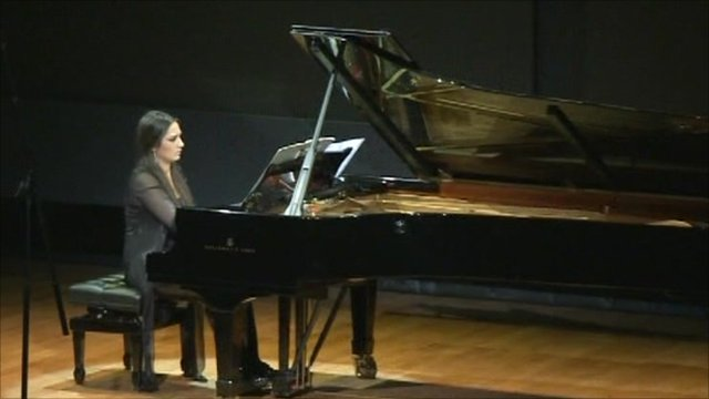 Playing piano in the Louvre auditorium