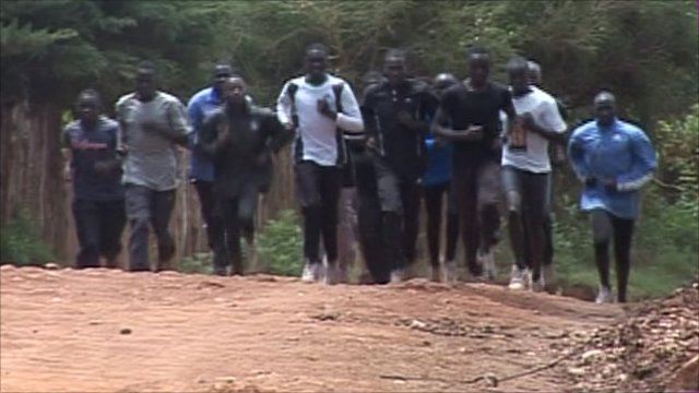 Students training in Iten