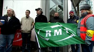 RMT picket line