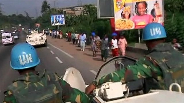 United Nations patrol in Ivory Coast