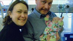 Lesley Hatton, Richard Allott and Millie Hatton