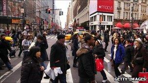 Shoppers in Manhattan