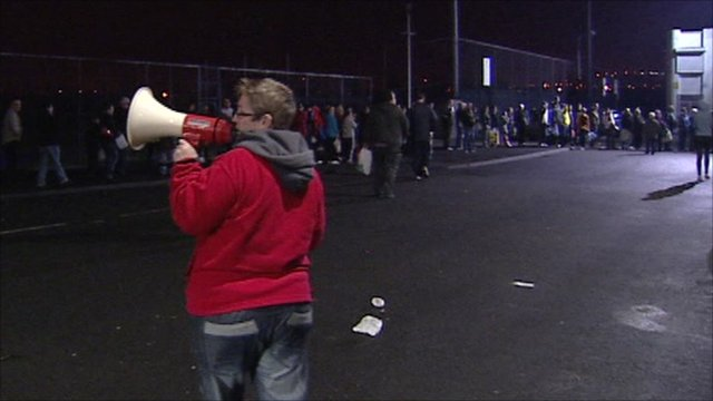Queues for water in Northern Ireland