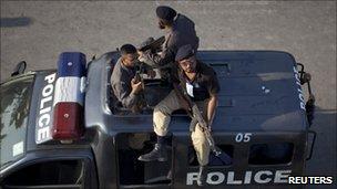 Police car in Karachi