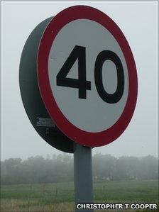 40mph sign (generic)