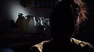 Silhouette of rape victim