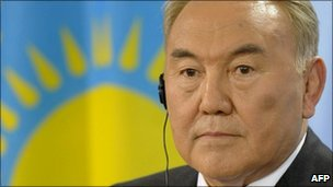 Kazakh President Nursultan Nazarbayev (file image from 2009)