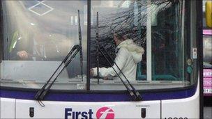 Passenger paying bus fare - generic