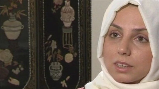 Turkish woman wearing headscarf