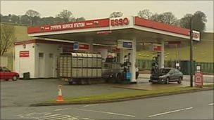 Esso garage in Ruthin
