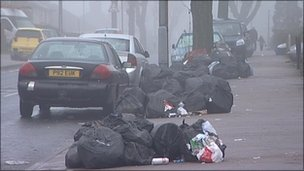 Rubbish bags in Kingstanding - archive image