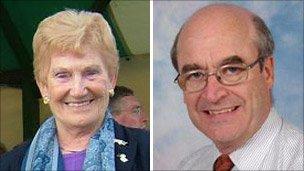 Morwen Pugh and Dr John Fish