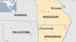 Arkansas and Missouri map