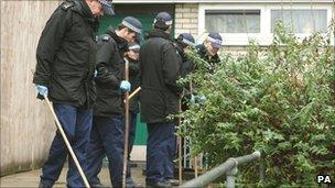 Police search the Pelican Estate