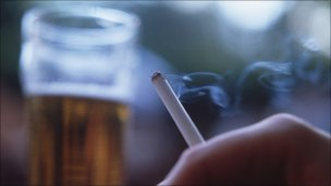 A pint and a cigarette