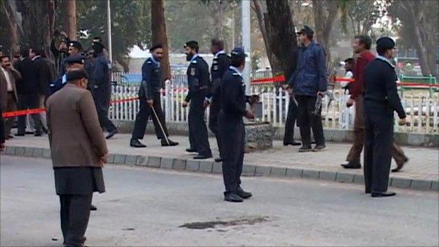 Scene of Pakistan shooting