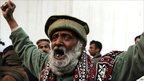 A PPP supporter shouts slogans against the killing of Salman Taseer in Islamabad