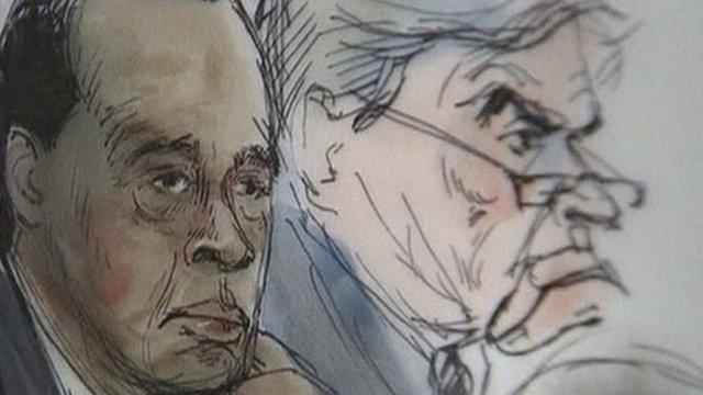 Court sketch of Dr Conrad Murray