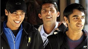 Mohammad Amir, Salman Butt and Mohammad Asif photographed in 2010