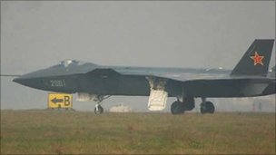 Photo apparently showing prototype of Chinese-made stealth bomber