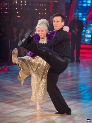 Anne Widdecombe and partner Anton Du Beke