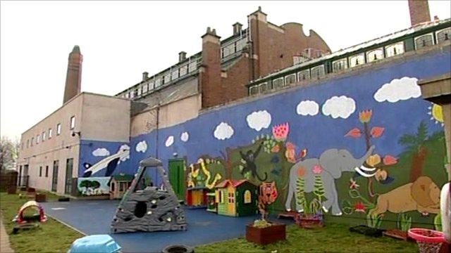 Mural on nursery wall
