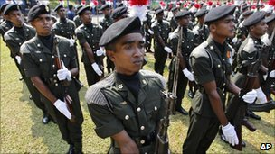 Soldiers in Colombia, Sri Lanka (15 Dec 2010)