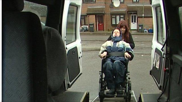 Disabled patient