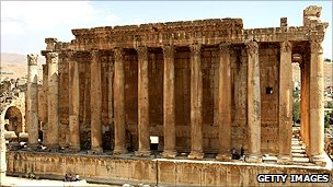 The Temple of Bacchus in the Bekaa Valley