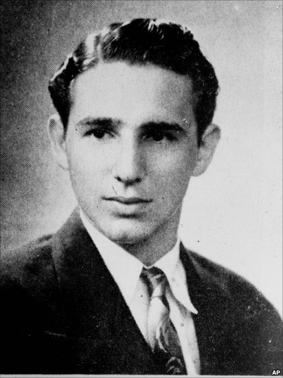 "The caption describing Fidel Castro in his 1945 high school yearbook reads: ""Distinguished student and a fine athlete. Very popular. Will study law and we have no doubt he will have a brilliant future."""
