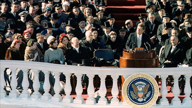 President John F Kennedy's inauguration