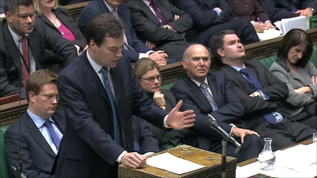 George Osborne speaks in the House of Commons