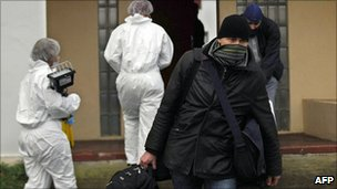 French police seize items from house of Eta suspect in n Ciboure, south-west France. 11 Jan 2011