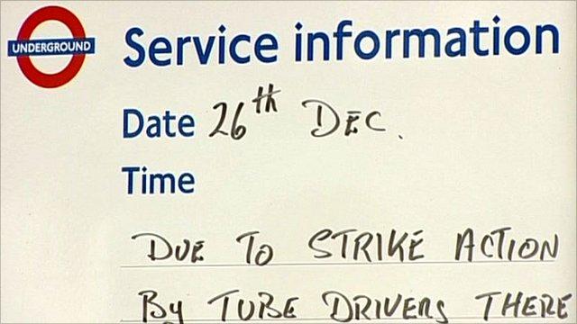 London Underground strike action information