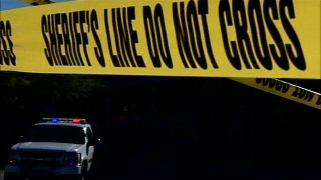 Police tape at scene of Arizona shooting