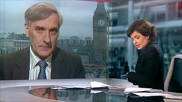 John Redwood speaks to the BBC's Jane Hill