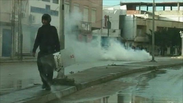 Police in Tunis