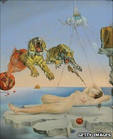 Detail from Dream Caused by the Flight of a Bee Around a Pomegranate a Second Before Awakening