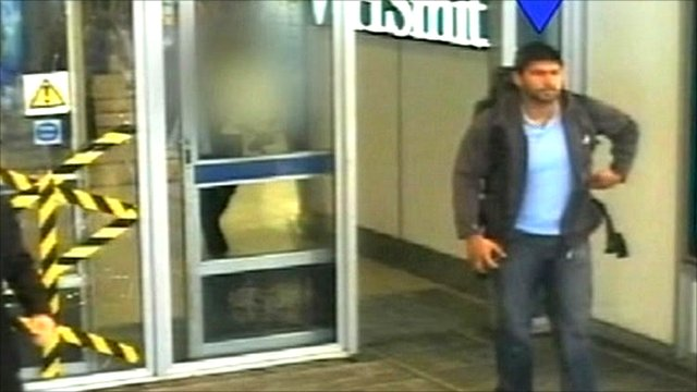 CCTV footage of Hasib Hussain carrying a bomb in his rucksack